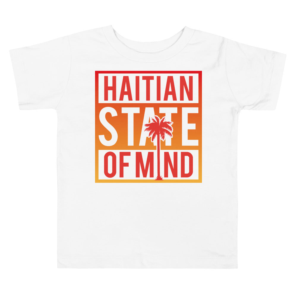 Red Haitian State of Mind Toddler Tee
