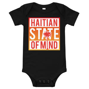 Red Haitian State of Mind Onesie