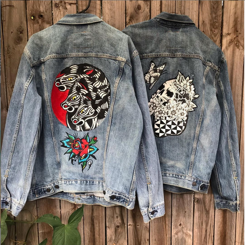Hand-painted denim jackets