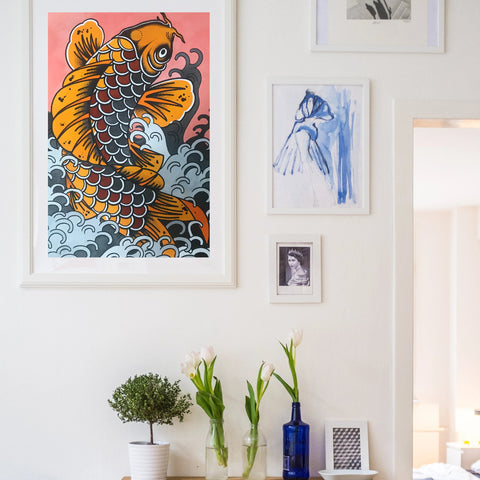 Koi Fish original painting
