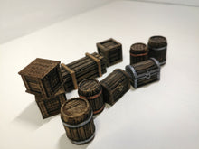 Load image into Gallery viewer, Barrels & Crates (10 Pieces)