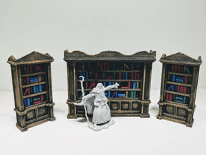 Library Bookshelf Set (3 Pieces)
