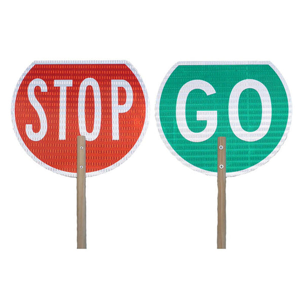 STOP GO Traffic Management Sign
