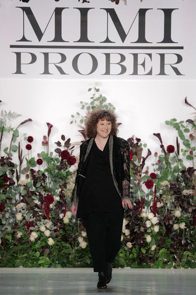 Mimi Prober Elan NYFW 2017 flower wall floral installation fashion