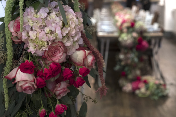 Manhattan Flowers Delivery Maman Victoria's Secret Brunch Lingerie Elan Flowers Floral Design Event Tribeca Pink Flowers