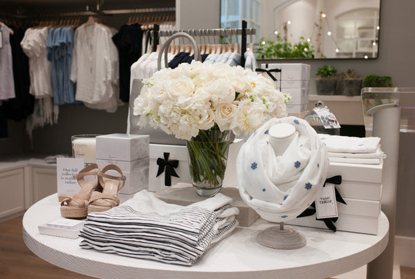 The white company and lan flowers a beautiful brand partnership the white company elan flowers nyc grand opening mightylinksfo
