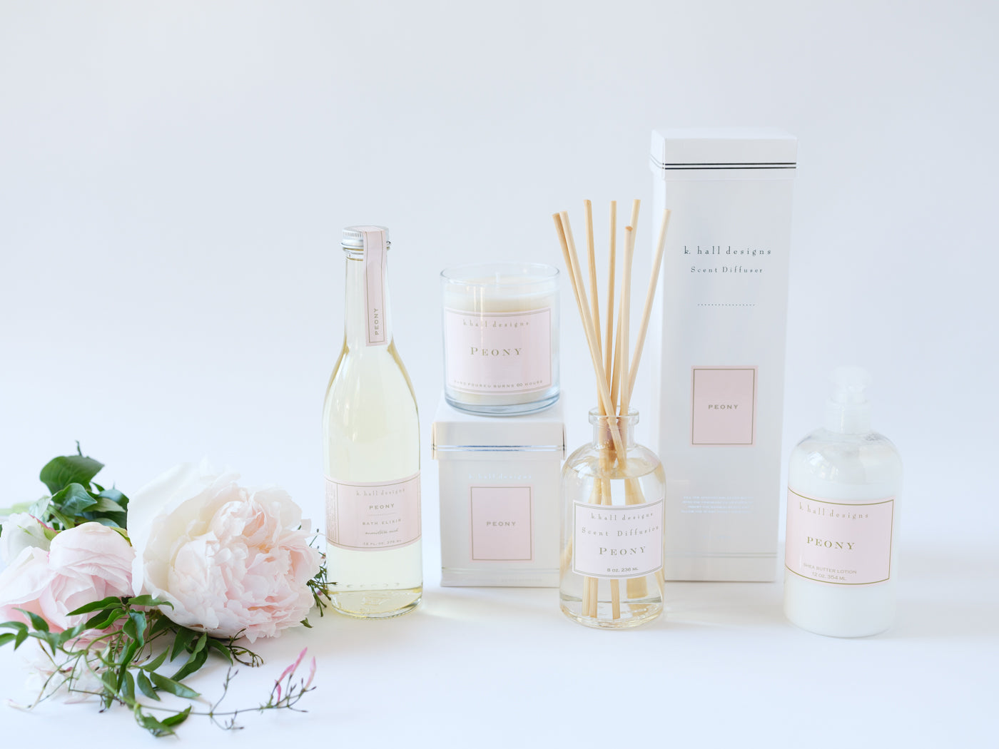 Peony Bath and Body Gift Collection - Élan Flowers
