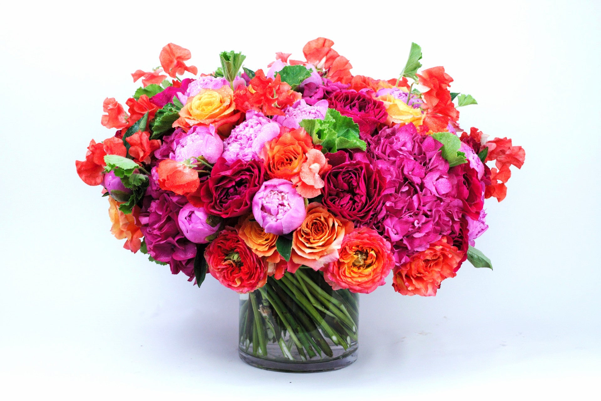 Hot Lady - Élan Flowers peonies roses colorful arrangement