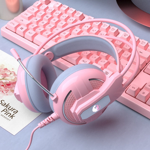 Wired Girl Pink Stereo Large Headphone