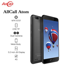 Load image into Gallery viewer, ALLCALL Atom 4G Dual SIM SmartPhone MT6737 Quad-core 2GB RAM 16GB ROM 5.2 Inch TFT IPS 8MP+2MP Daul Rear Cameras 4G Mobile Phone