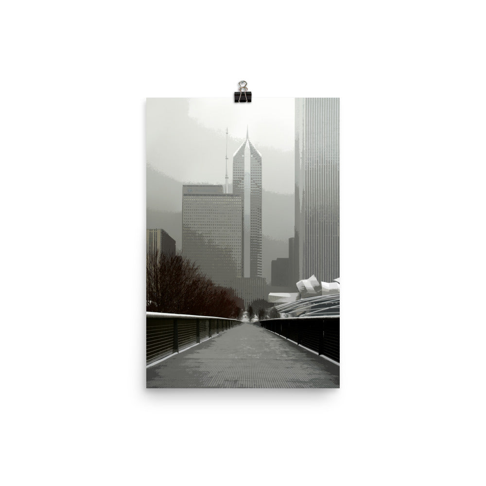 Local Artist Graphic Chicago Series 4 Poster Matte
