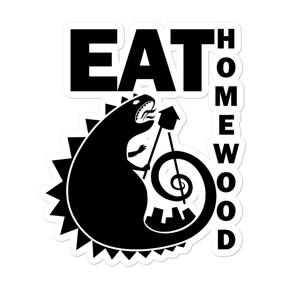 EAT Homewood 3 Bubble-free stickers
