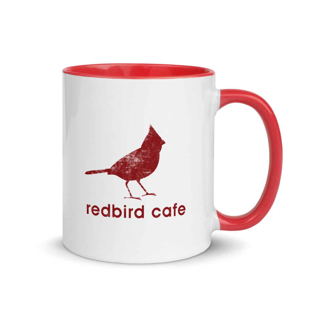 Local Fave Redbird Mug with Color Inside