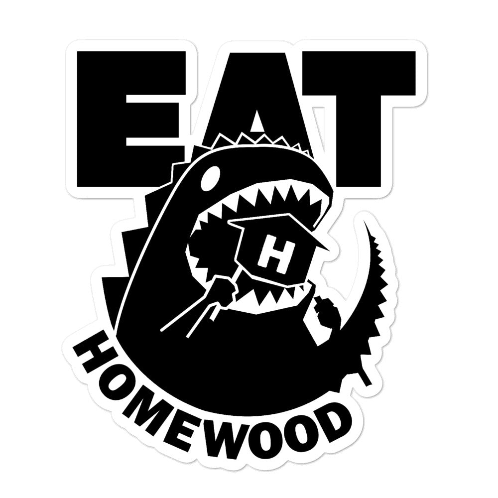 EAT Homewood 5 Bubble-free stickers