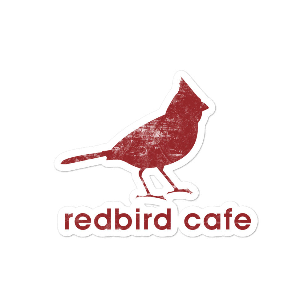 Local Fave Redbird Bubble-free stickers
