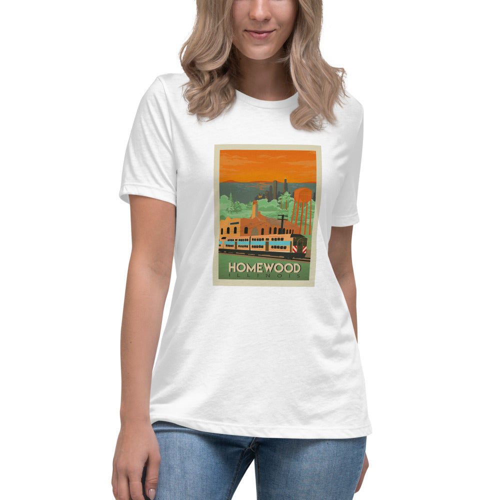 Homewood Pride Travel Poster Women's Relaxed T-Shirt