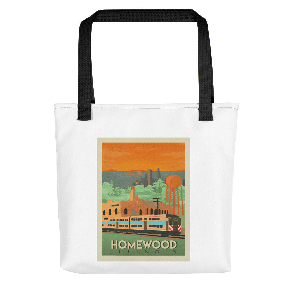 Homewood Pride Travel Poster Tote bag by Local Artist Kristy Marcordes