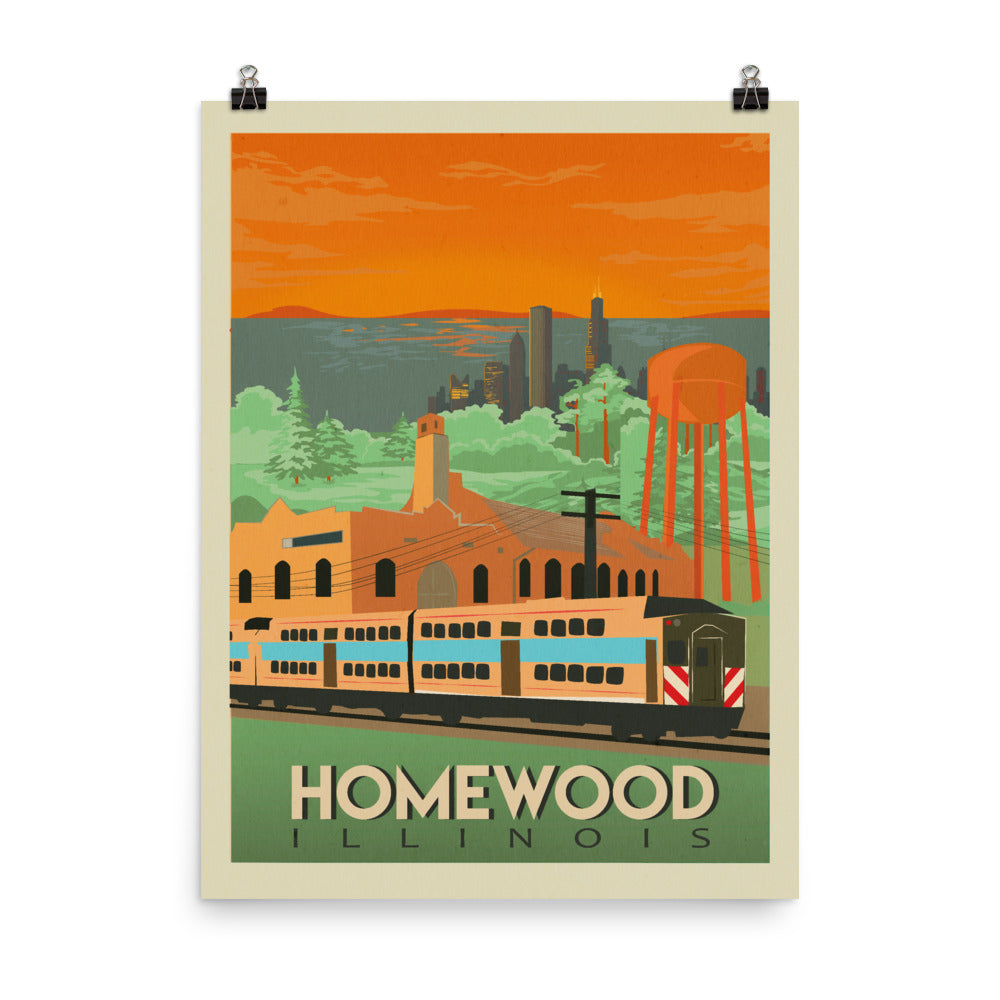 Homewood Pride Travel Poster by Local Artist Kristy Marcordes Matte
