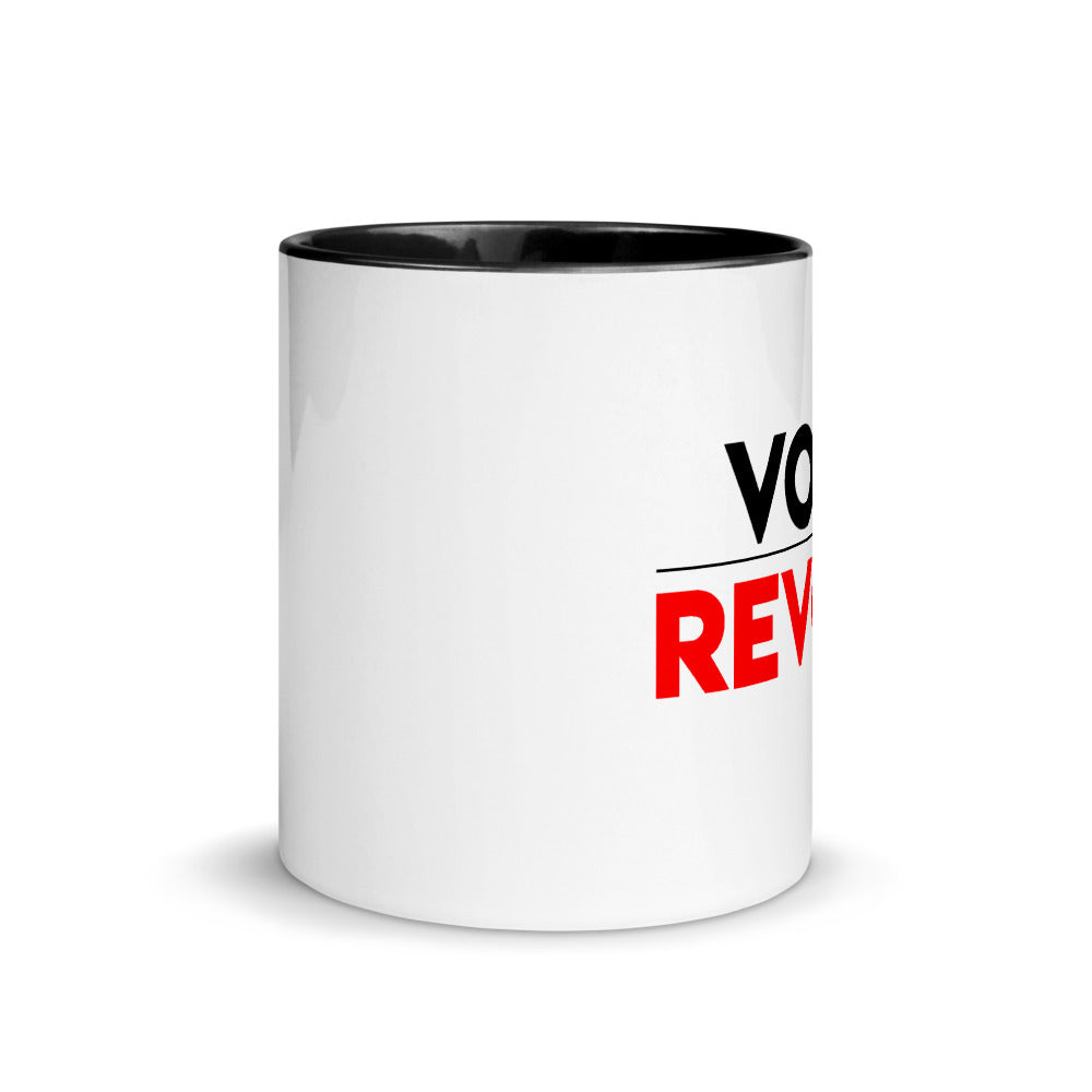 Politics Vote Revolt Mug with Color Inside