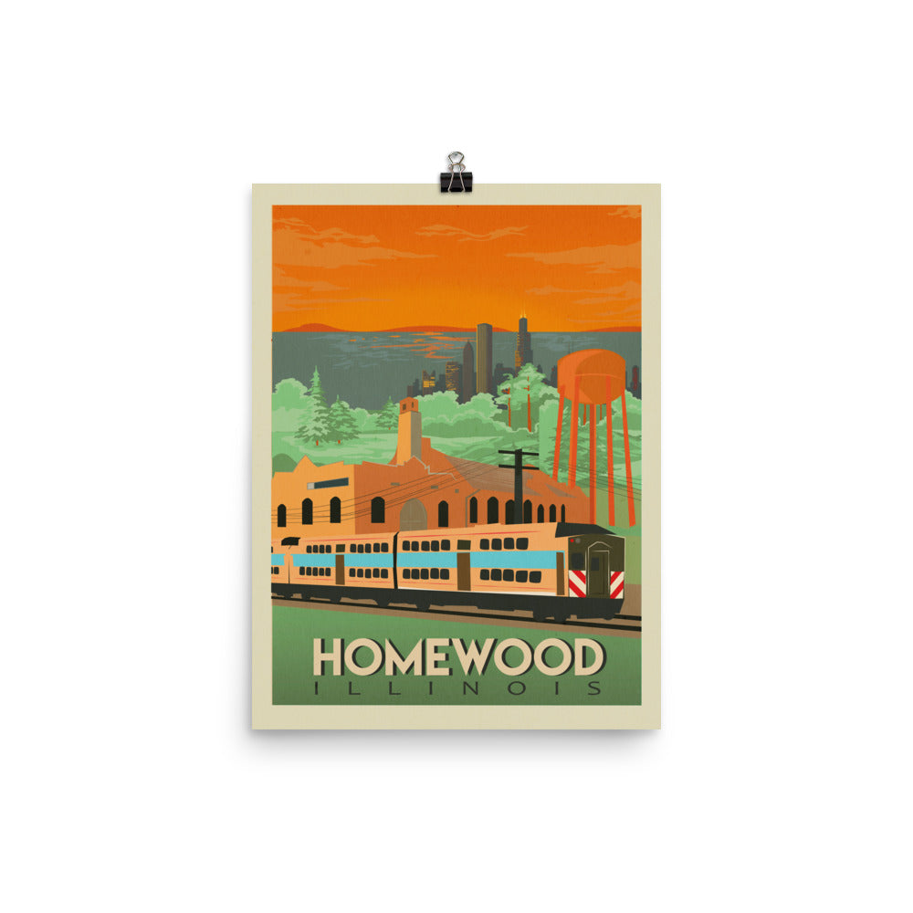 Homewood Pride Travel Poster by Local Artist Kristy Marcordes Luster