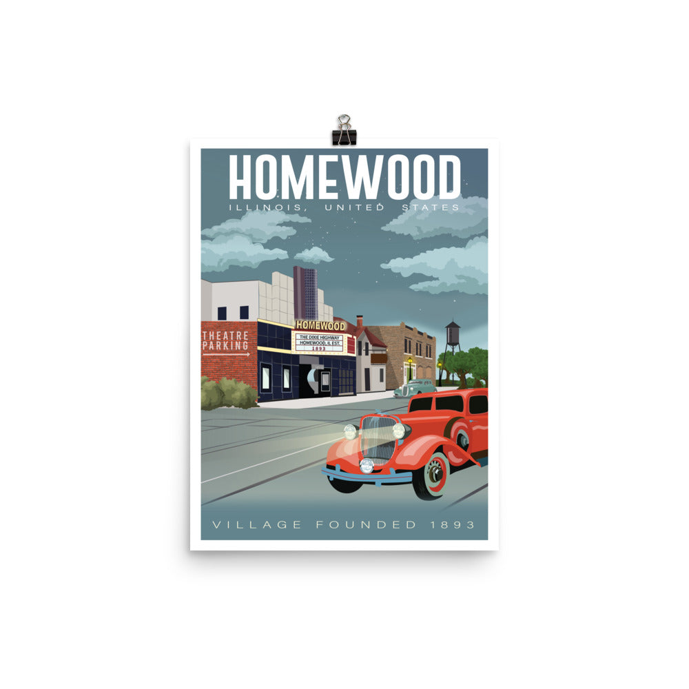 Homewood Pride Historical Travel Poster by Local Artist Kristy Marcordes Luster