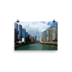 Local Artist Graphic Chicago Series 5 Poster Luster