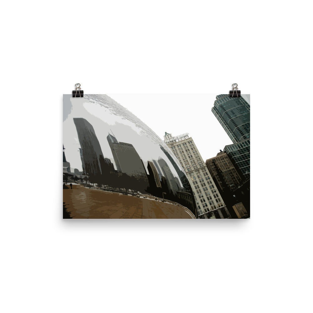 Local Artist Graphic Chicago Series 6 Poster Luster