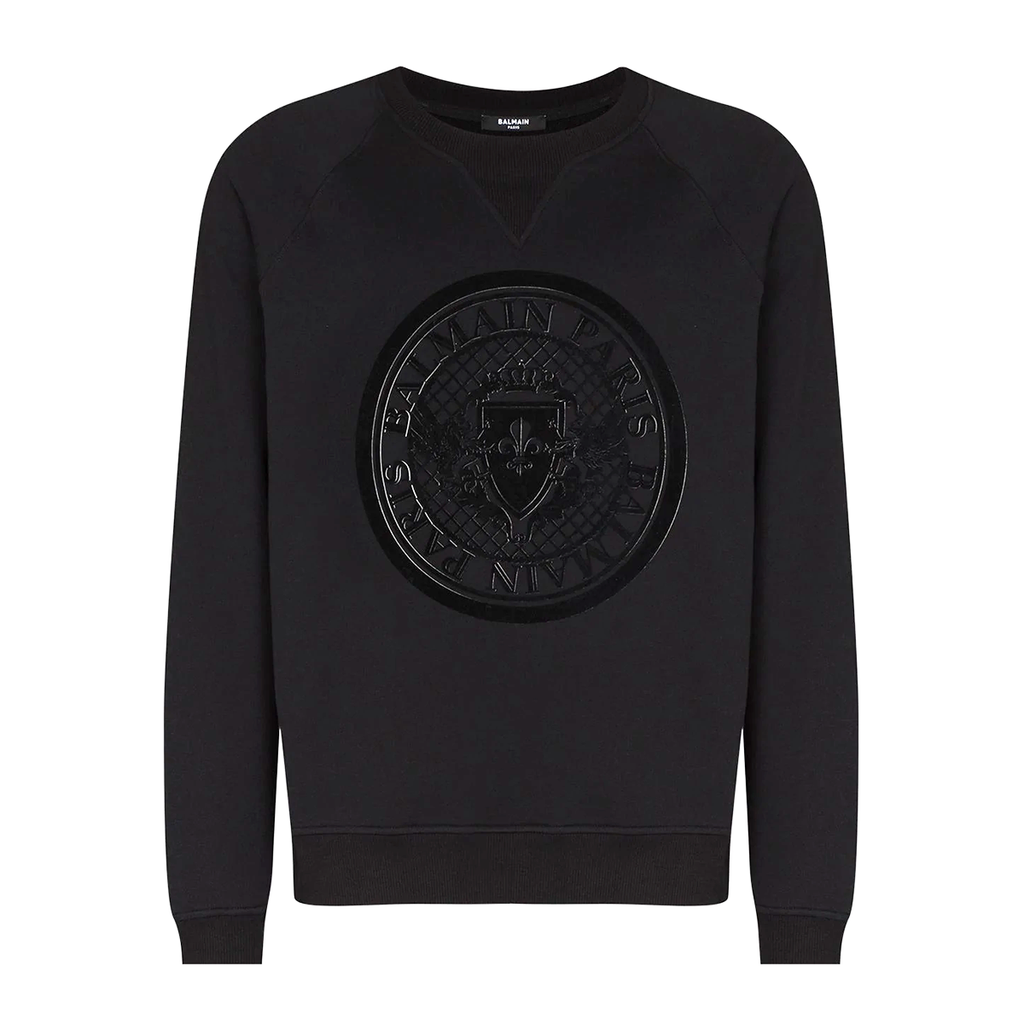 Balmain - Flock Coin Logo Sweater In Black (Premier 8th September)