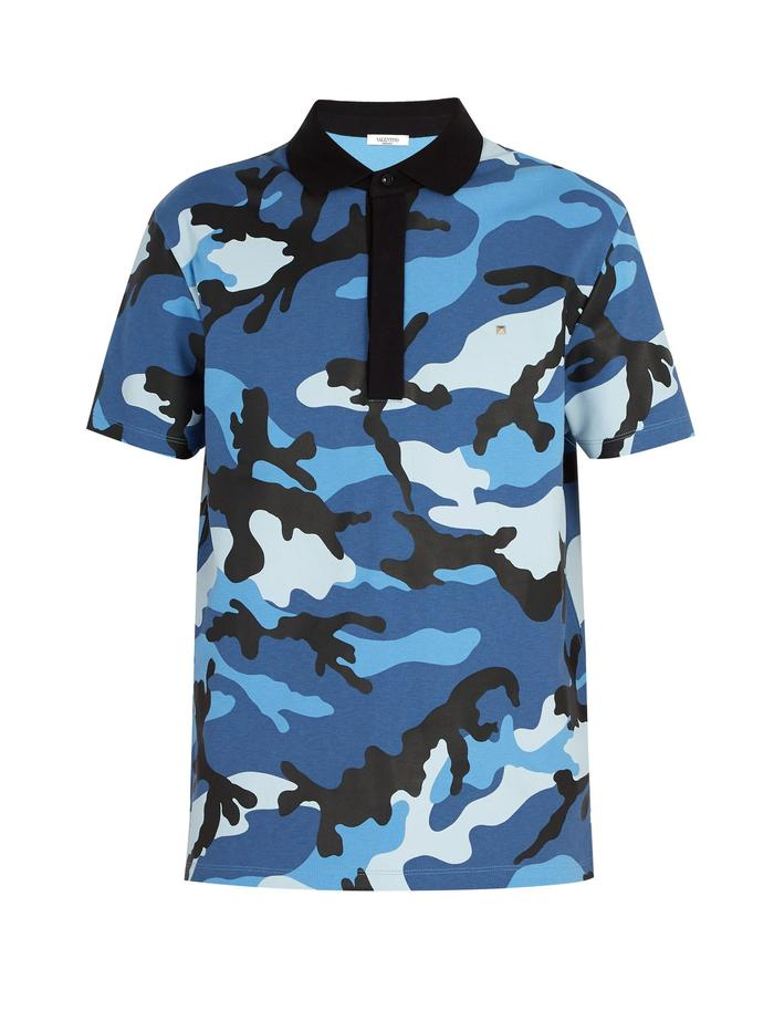 Valentino Camouflage - Cotton Polo Shirt (XS)