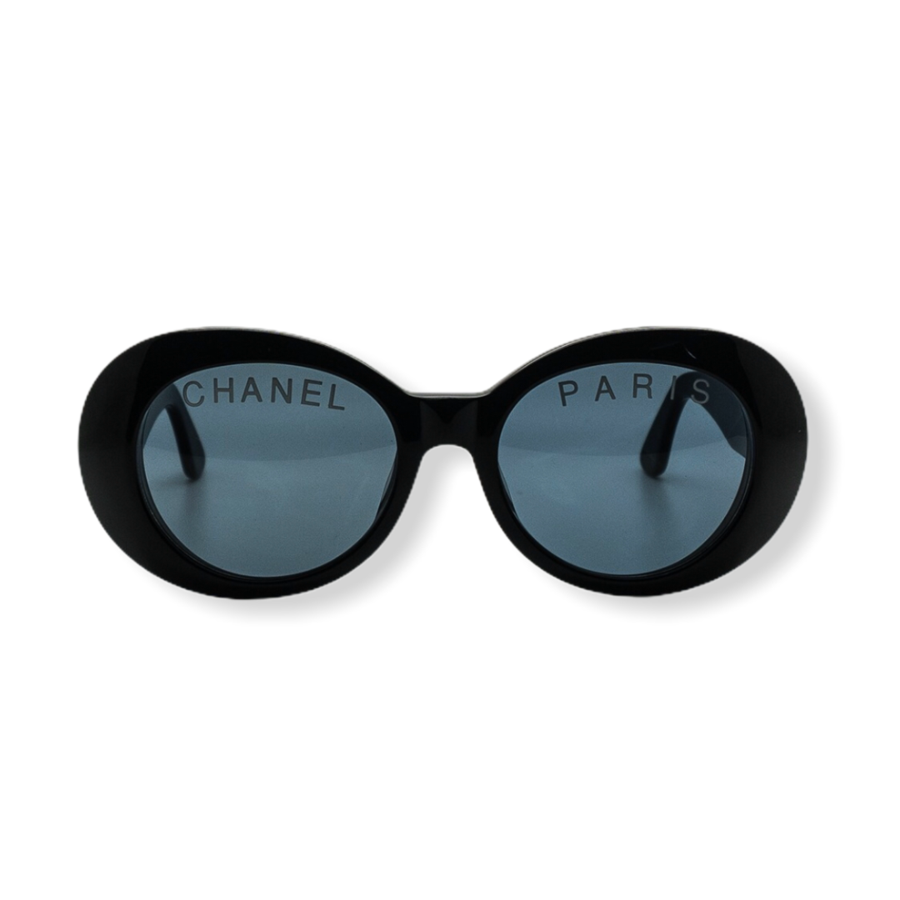 Chanel - Oval Frame Vintage Sunglasses (Black)
