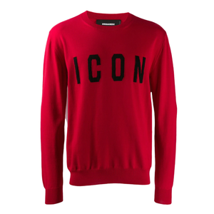 DSquared2 'ICON' Knit Jumper In Red