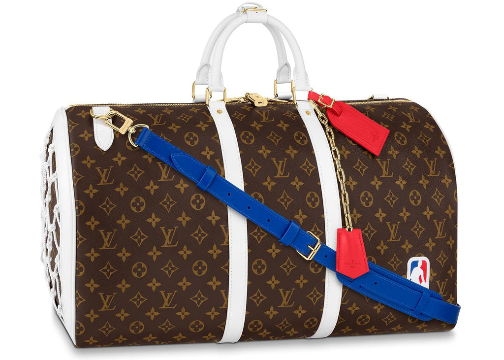 Louis Vuitton x NBA Basketball Keepall 55 Monogram in Coated Canvas with Gold-tone