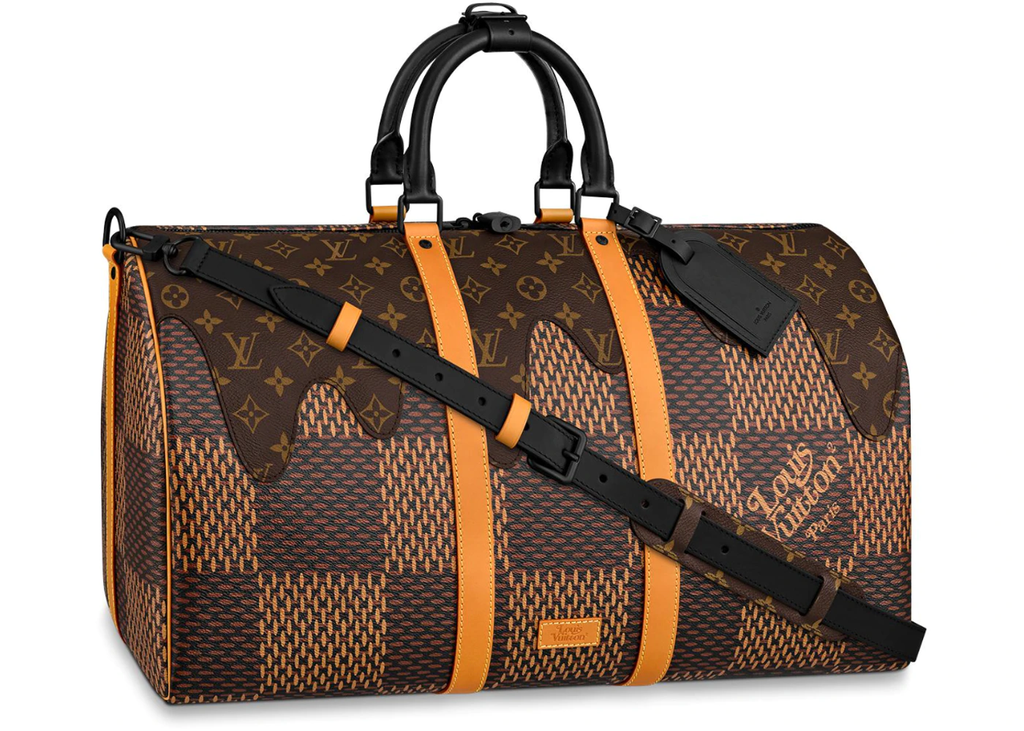 Louis Vuitton x Nigo Keepall Bandouliere Damier Ebene Giant 50 Brown in Coated Canvas with Black-tone  Follow Product