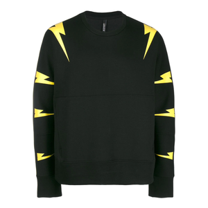 Neil Barrett - Thunder Bolt Print Sweater In Black