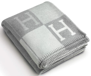 HERMÈS AVALON BLANKET | GREY | Merino wool and cashmere