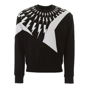 Neil Barrett - Thunder Print Sweatshirt in Black