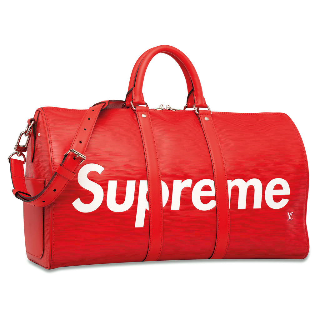 LOUIS VUITTON x SUPREME  |  Keepall 45 Red