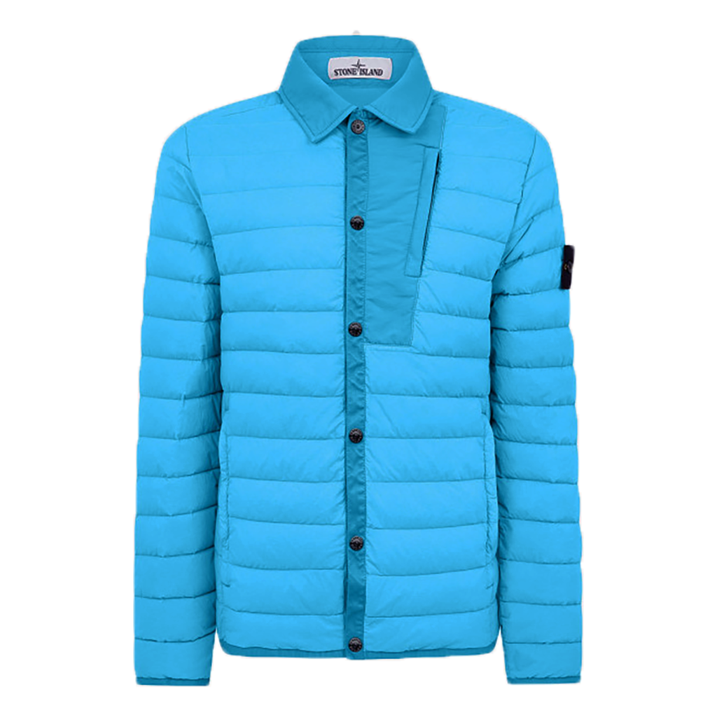 Stone Island - Loom Woven Down Jacket In Turquoise