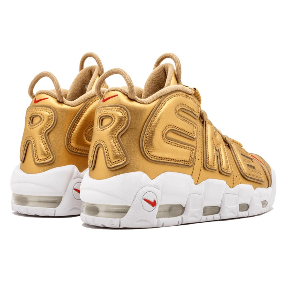 "Supreme X Nike Air More Uptempo ""Metallic Gold"""