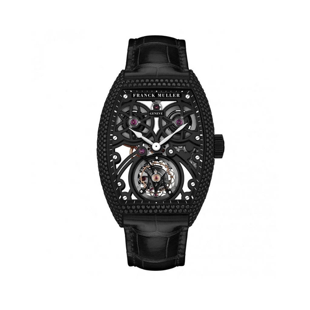 Frank Muller Fast Tourbillon Skeleton Black Gold & Black Diamonds