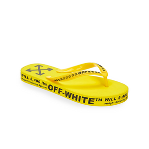 Off-White Yellow Flip Flops