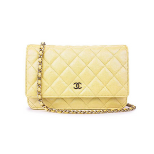 Chanel WOC Iridescent Yellow Caviar GHW
