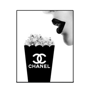 Chanel - LOVE Popcorn Print Art