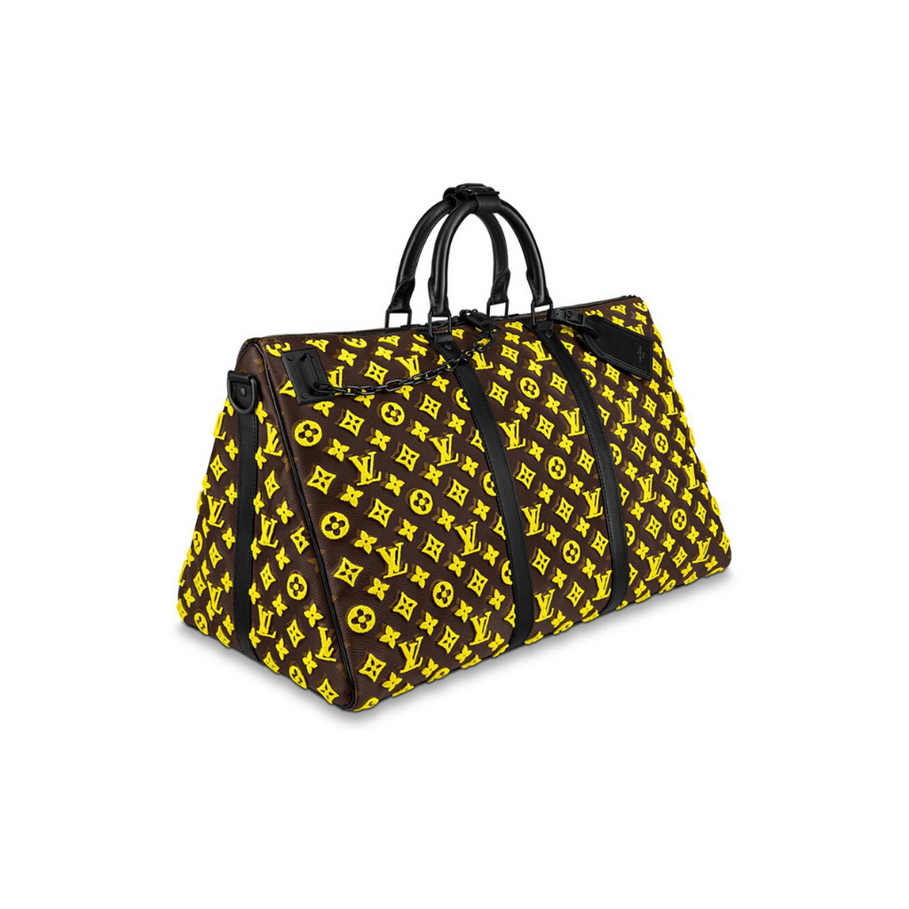 Louis Vuitton Triangle Keepall 50 - Yellow