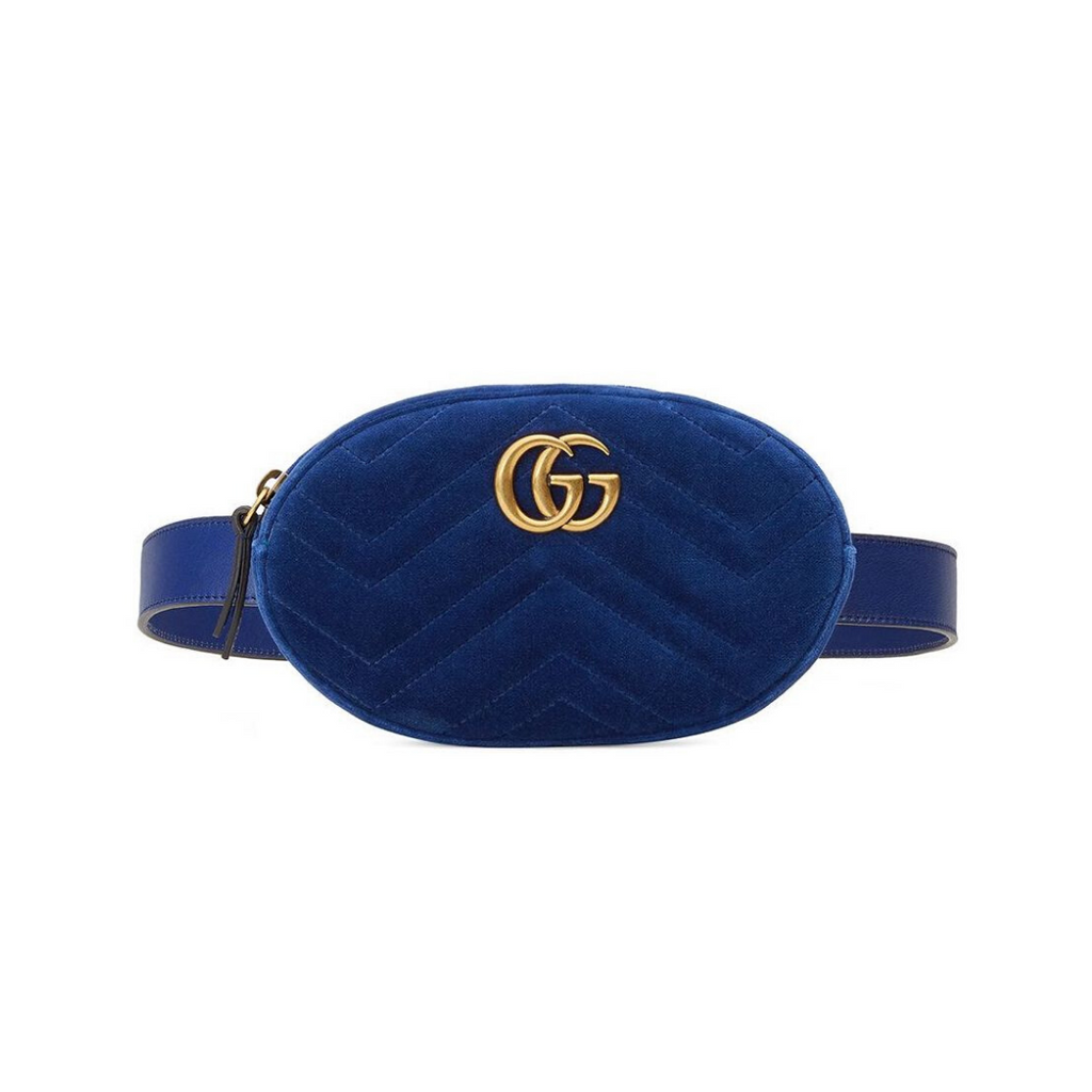 Gucci - GG Marmont Velvet Belt Bag