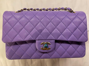 Chanel -  Xupes Purple Quilted Lambskin Bag