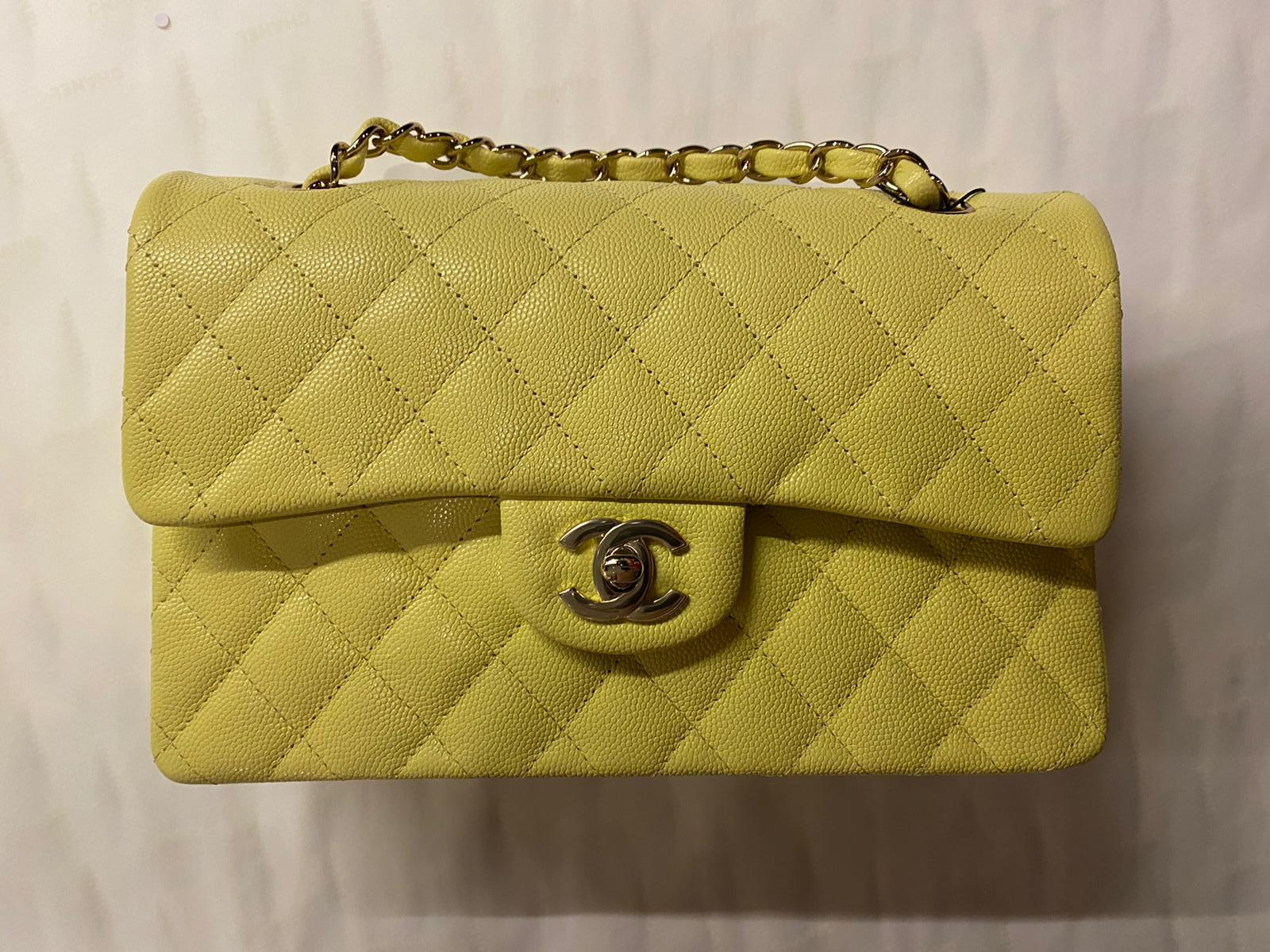 Chanel -  Xupes Yellow Quilted Lambskin Bag