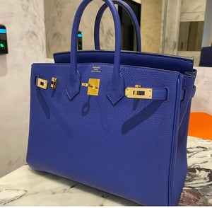 Hermes Birkin 25 Blue Electric Togo GHW