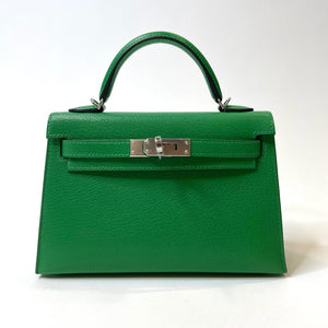 Hermès Mini Kelly II 20cm Bamboo Chevre Leather With Gold Hardware