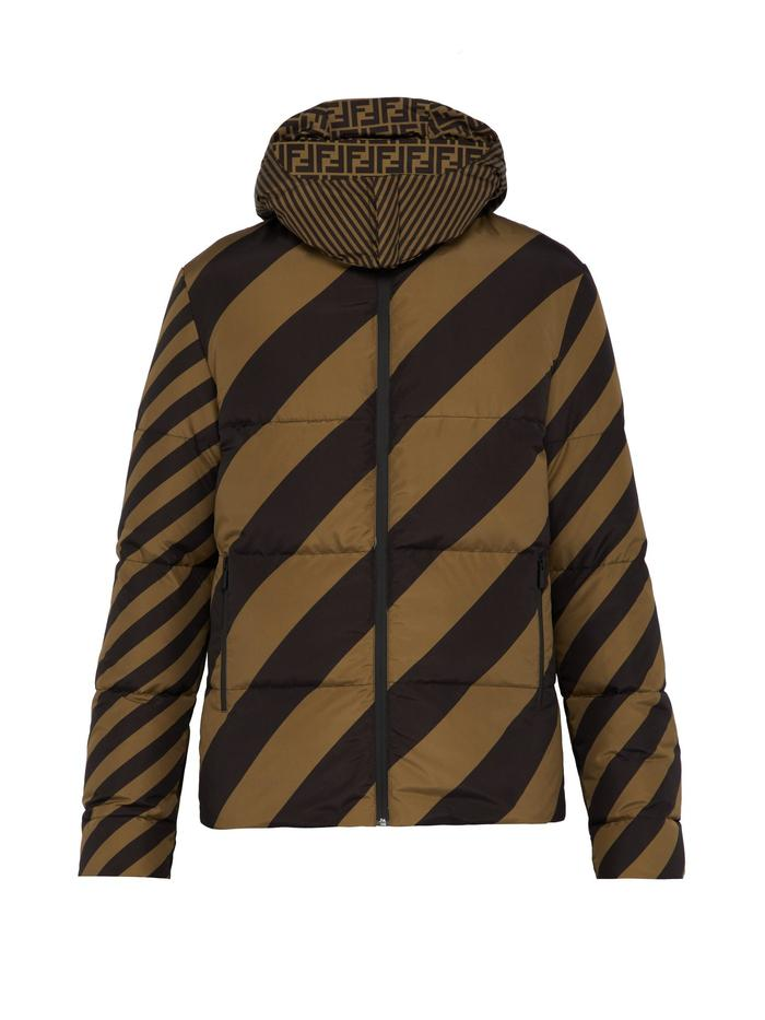 Fendi Reversible Striped Jacket